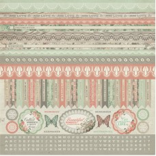 Kaisercraft Rustic Harmony 12x12 Sticker Sheet