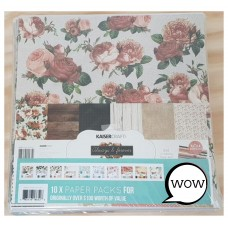 Kaisercraft Bulk 10x Paper Packs & Sticker Sheets