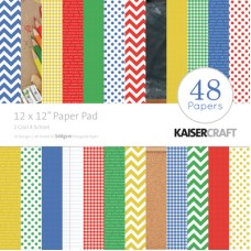 "Kaisercraft 2 Cool 4 School 12""x12"" Paper Pad"