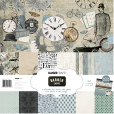 Kaisercraft Barber Shoppe Paper Pack with Bonus Sticker Sheet
