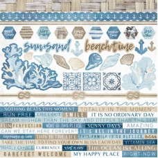 Kaisercraft Beach Shack Sticker Sheet