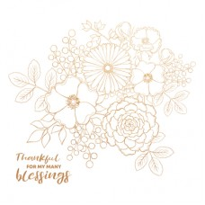 Kaisercraft Blessed 12x12 Foil - Bouquet