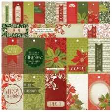 Kaisercraft Christmas Carol 12x12 Perforated Tags Specialty To/Froms