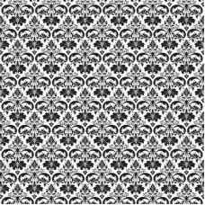 Kaisercraft Everlasting 12x12 Flocked - Damask