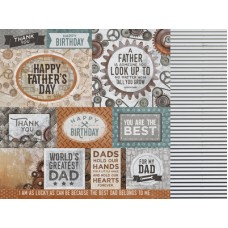 Kaisercraft Factory 42 12 x12 Scrapbookpaper - Workshop