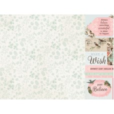 Kaisercraft Fairy Garden 12x12 Scrapbook Paper - Wishes