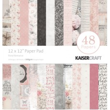 ** Currently out of Stock*** ETA July Kaisercraft Floral Romance 12x12 Paper Pad