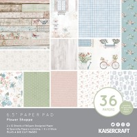 "Kaisercraft Flower Shoppe 6.5"" Paper Pad"
