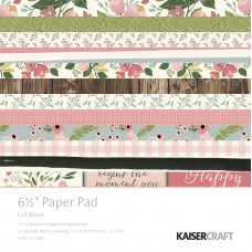 "Kaisercraft Full Bloom 6.5"" Paper Pad"