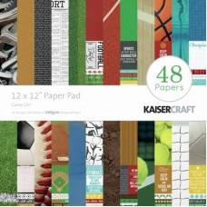 Kaisercraft Game On! Paper Pad 12x12