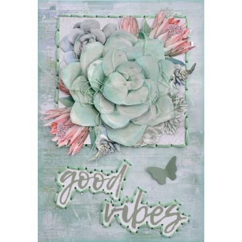 Kaisercraft /'GREENHOUSE/' Sticker Book 12pg 2x 6 Sheets Succulents KAISER