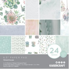"Kaisercraft Greenhouse 6.5"" Paper Pad"