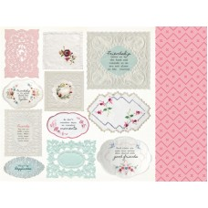 Kaisercraft Miss Betty 12x12 Scrapbook Paper - Handkerchief
