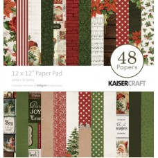 Kaisercraft Letters to Santa 12x12 Paper Pad