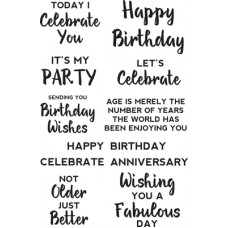 Kaisercraft Background Stamp Birthday Sentiments