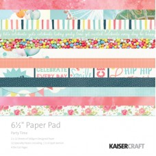 "Kaisercraft Party Time 6.5"" Paper Pad"