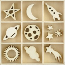 Kaisercraft Flourish Pack Star & Moon 55 pcs