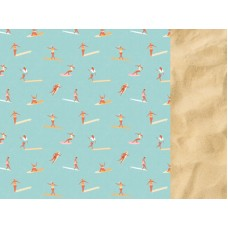 Kaisercraft Summer Splash 12x12 Scrapbook Paper - Surfers