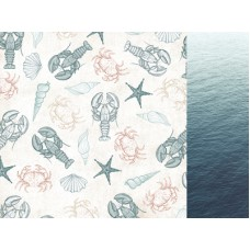 Kaisercraft Uncharted Waters 12x12 Scrapbook Paper - Oceanic
