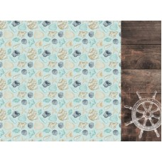 Kaisercraft Uncharted Waters 12x12 Scrapbook Paper - Tide Pool
