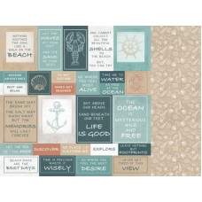 Kaisercraft Uncharted Waters 12x12 Scrapbook Paper - Shallows