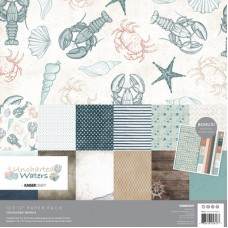 Kaisercraft Uncharted Waters Paper Pack with Bonus Sticker Sheet