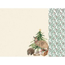Kaisercraft Under the Gum Leaves 12x12 Scrapbook Paper - Native Tree