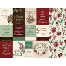 Kaisercraft Under the Gum Leaves 12x12 Scrapbook Paper - Home for Christmas