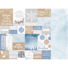 Kaisercraft Whimsy Wishes 12x12 FOILED Scrapbook Paper - WARM WISHES