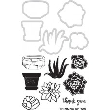 Kaisercraft Decorative Die & Stamp - Succulents