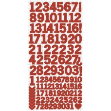 Kaisercraft Number Stickers - Red