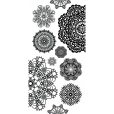 Kaisercraft Clear Stickers - Doilies ST917  Very Large Stickers