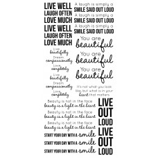 Kaisercraft Clear Stickers - Inspirational ST929 Very Large Stickers