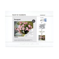 Kaisercraft Paint by Number kit - Bouquet 30x40cm