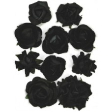 Kaisercraft Paper Blooms - Black