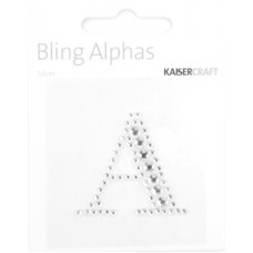 Kaisercraft Rhinestone Letters 'A' Silver