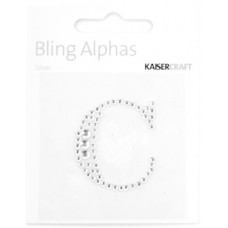 Kaisercraft Rhinestone Letters 'C' Silver
