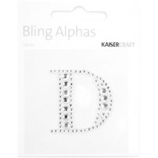 Kaisercraft Rhinestone Letters 'D' Silver