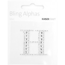 Kaisercraft Rhinestone Letters 'H' Silver
