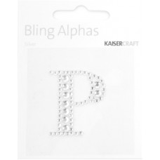 Kaisercraft Rhinestone Letters 'P' Silver