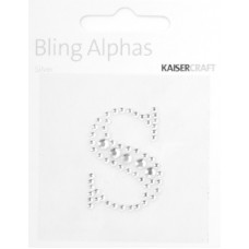 Kaisercraft Rhinestone Letters 'S' Silver