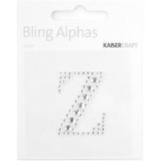 Kaisercraft Rhinestone Letters 'Z' Silver