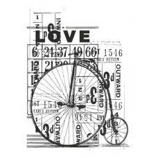 Kaisercraft Medium Stamp - Vintage Love