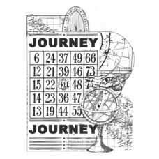 Kaisercraft Medium Stamp - Vintage Journey