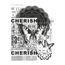 Kaisercraft Medium Stamp - Vintage Cherish