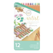 Kaisercraft Artist Coloured Pencils 12pc Tin
