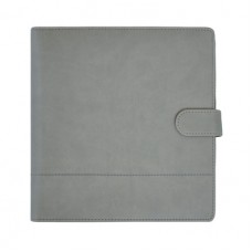 Kaisercraft K Style - Large Planner - Grey leather stitched