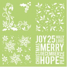 Kaisercraft Stencil 12x12 Designer Template Holly