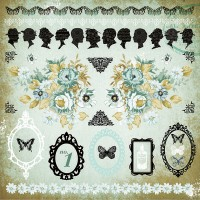 Kaisercraft 75 Cents 12 x 12 Sticker Sheet