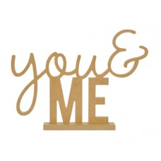 Kaisercraft BTP - You & Me Standing Word